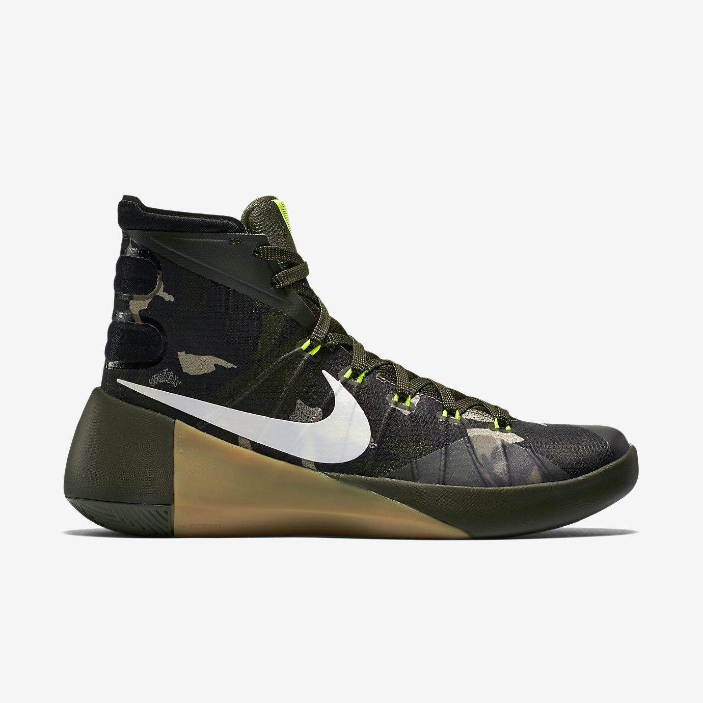 NIKE Men's Hyperdunk 2015 Basketball Sneaker B00RKDM1JI 13 M US|Cargo Khaki/Sequoia/Bamboo/Sail