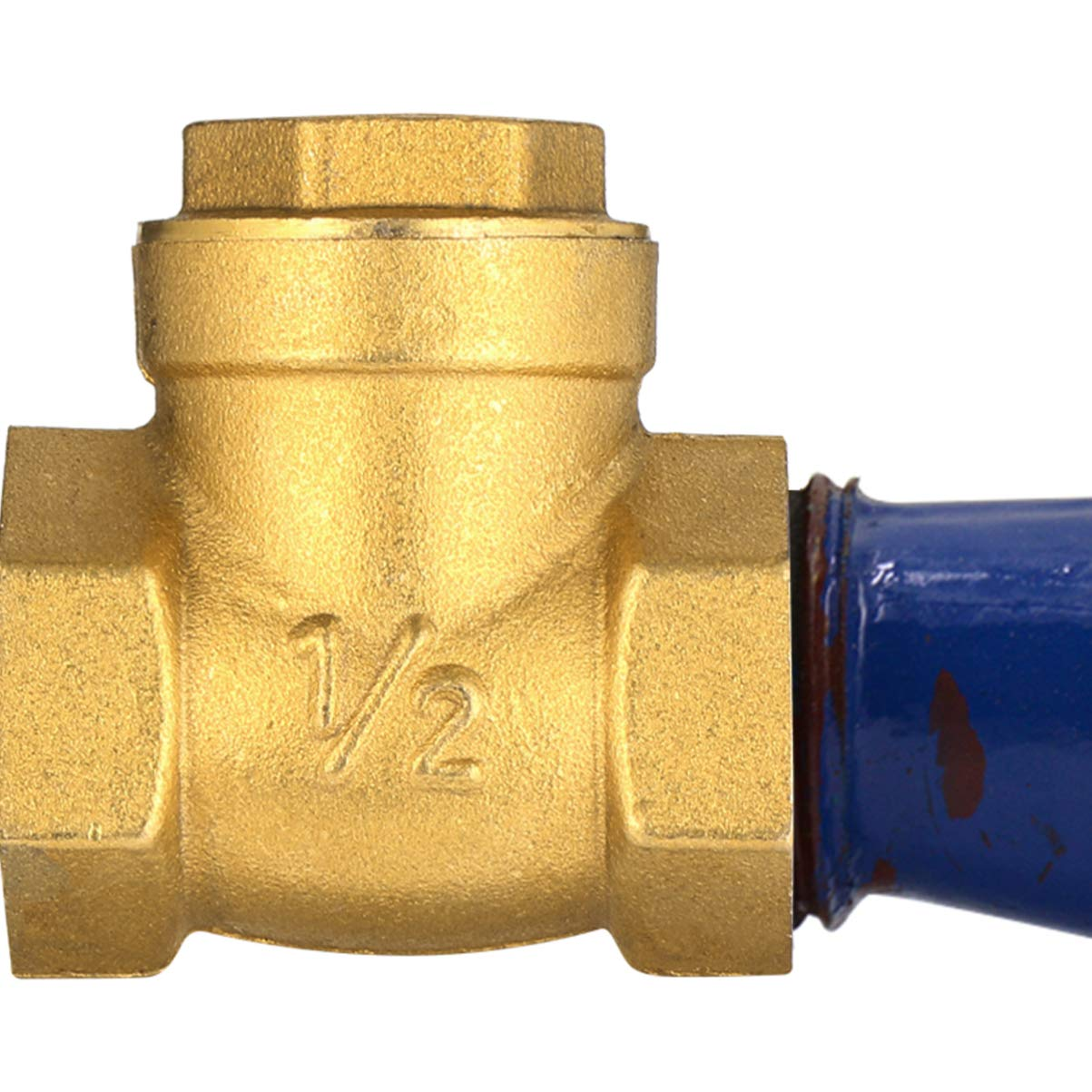 ULTECHNOVO 4pcs Straight Pipe Fitting Quick Connect Brass Water Tube Valve Coupling Adapter