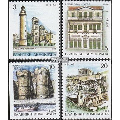 Grèce 1699D,1701D,1704D,1705D 1988 Provinzhauptstädte (Timbres pour les collectionneurs)