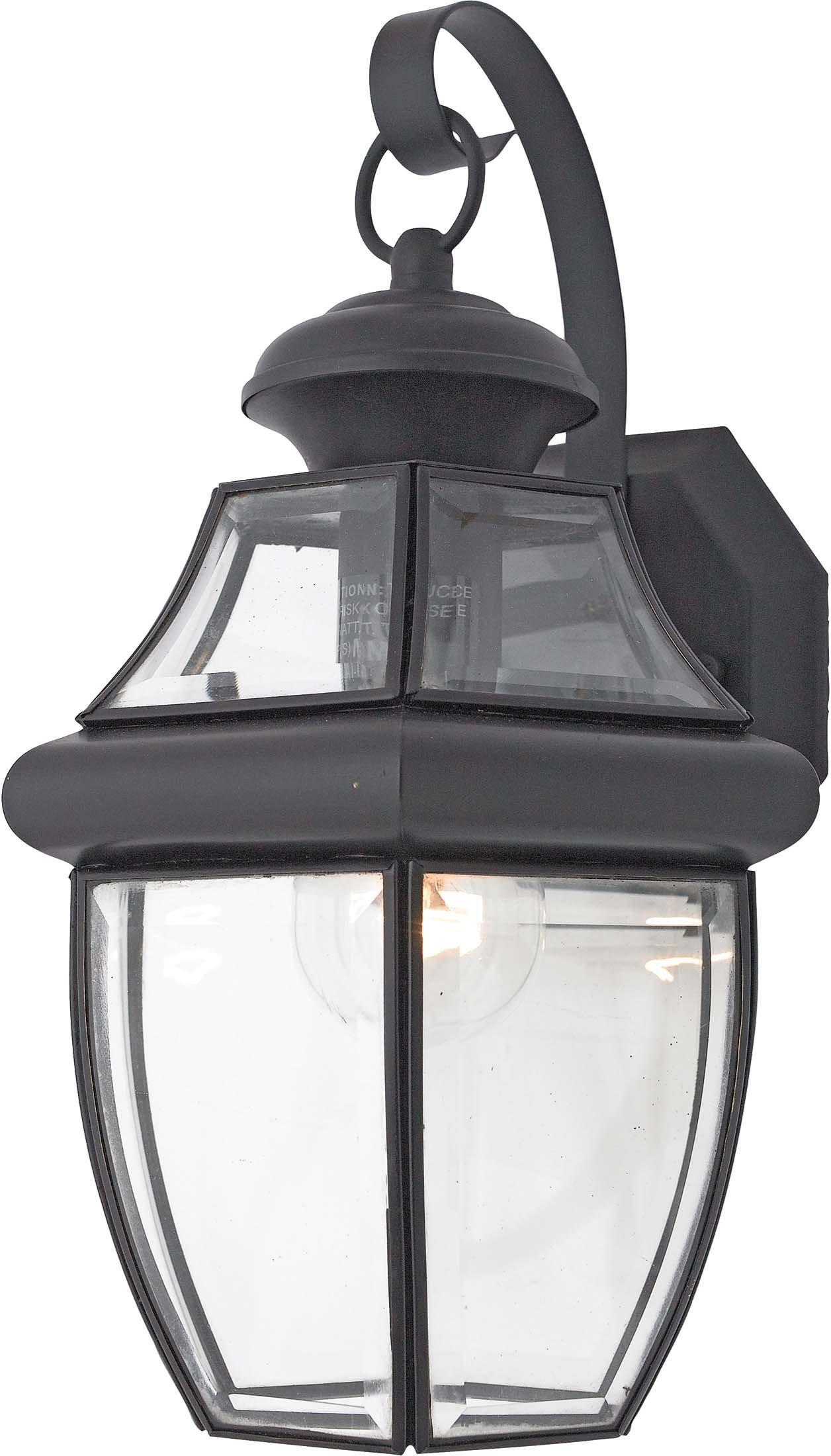 Quoizel NY8316K Newbury 1-Light Outdoor Lantern, Mystic Black