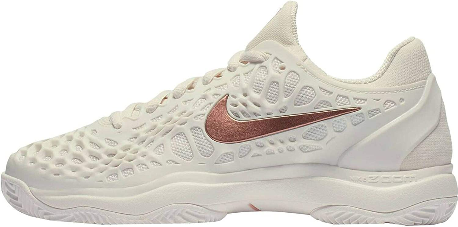 Nike Air Zoom Cage 3 Clay Blanco Mujer NI918198 066: Amazon.es ...