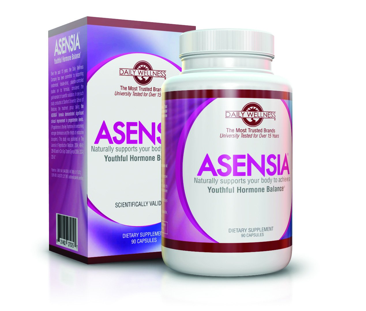 Asensia 3 Pack - Menopause Relief From Insomnia, Bloating, Thyroid Related Weight Gain and Hot Flashes