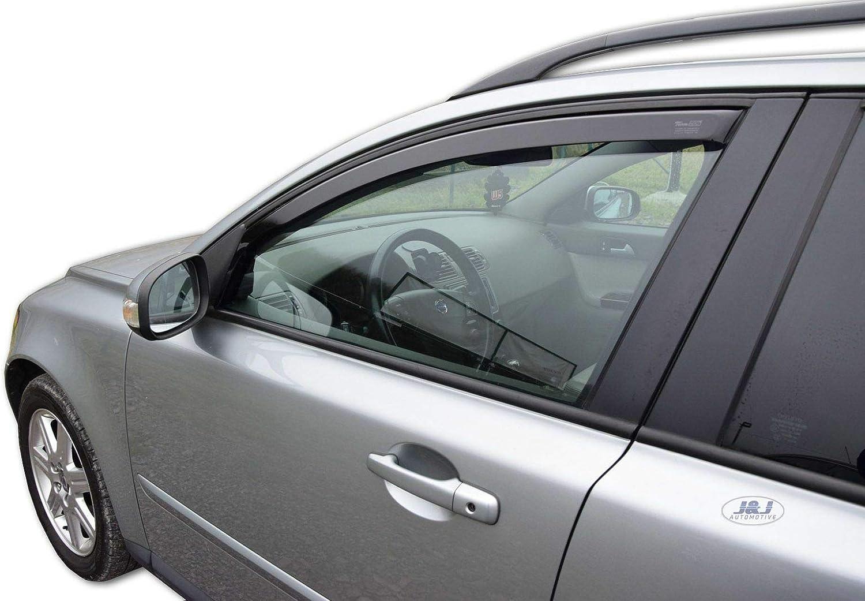 Deflecteurs dair d/éflecteurs de Vent Compatible avec Volvo V50 5 Portes Break 2004-pr/és 2 pi/èces J/&J AUTOMOTIVE