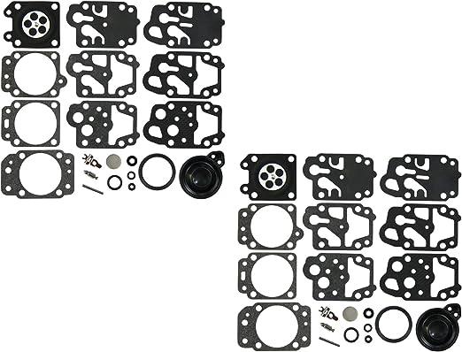 Paquete de 2 C/·T/·S Kit de reparaci/ón y reconstrucci/ón de carburador sustituye a Walbro K13-WYK para carburador WYK D13-WYK D20-WYK D21-WYK D22-WYK K20-WYK K21-WYK K21-WYK K22-WYK