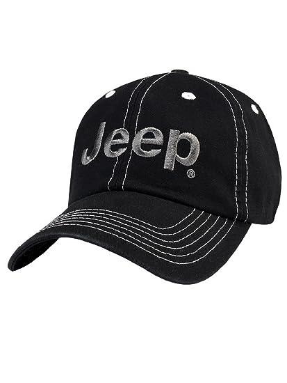 cdcb2541012 Amazon.com  Jeep® Black Cap  Sports   Outdoors