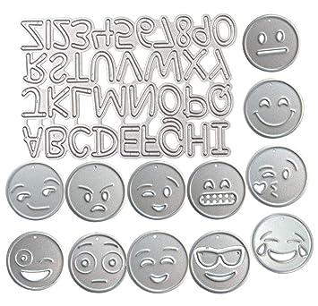 Alfabeto A-Z - Plantilla de metal para cortar números 0 - 9 ...