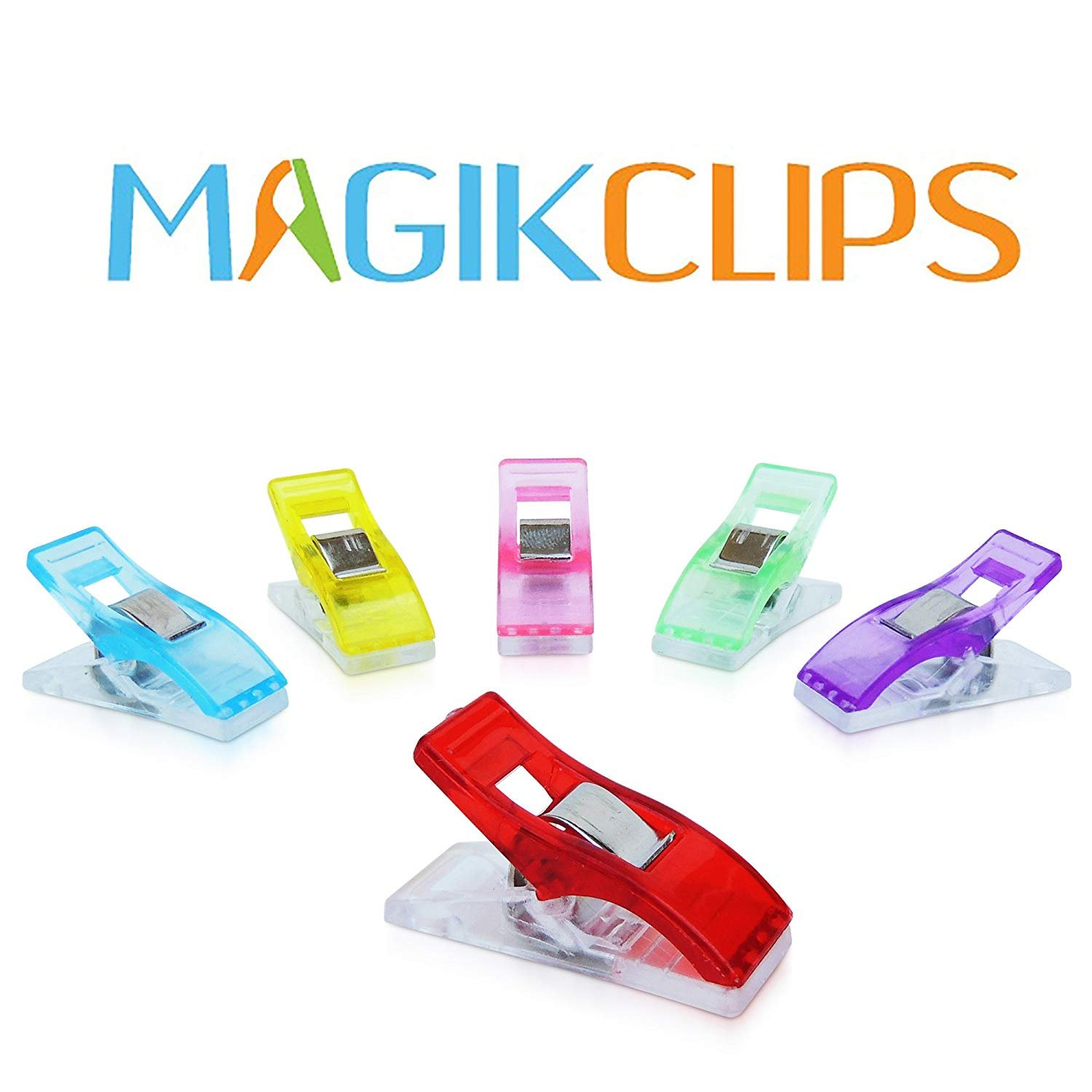 Magik Clips, Multicolored, 100 Pack- Sewing Clips for Quilting and Crafts Ring Binder Depot 4337009919