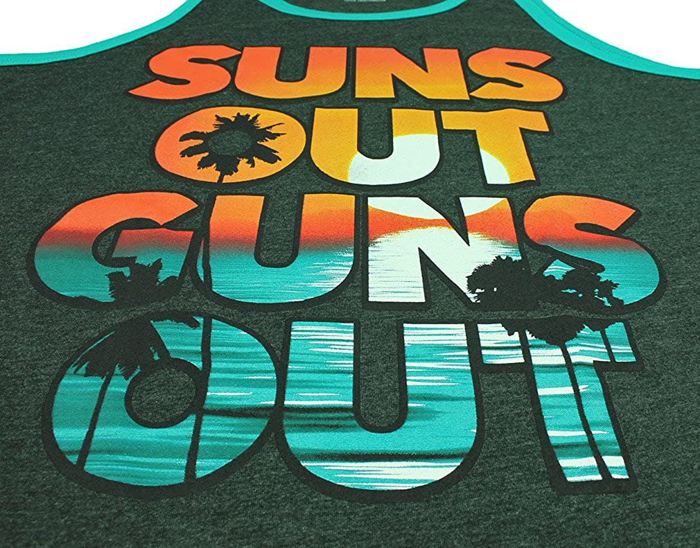 Fifth Sun Mens Suns Out Guns Out Grey Tank Top