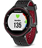 "Garmin Forerunner 235 GPS Running Watch with Wrist-Based Heart Rate, Sunlight-Visible, 5 ATM Water Rating, 1.23"" Display, 215x180 Pixels, iPhone and Android Compatible, Marsala Silicone (010-03717-70)"