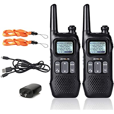 Retevis RT16 Walkie Talkie for Adults Long Range FRS VOX 22 CH FM Lock 10 Call Tone NOAA USB Charging Security Rechargeable Two Way Radio(2 Pack): Car Electronics [5Bkhe1410438]