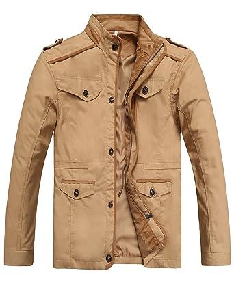 c8d256c2f GARSEBO Mens Coats Outdoor Wear Resistance Casual Light Weight ...