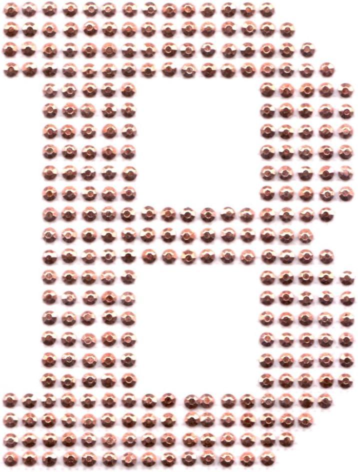 B/ügel-Strass Buchstaben Aufn/äher Patches gro/ß f/ür Jacken Cap Hosen Jeans Kleidung Stoff Kleider B/ügelbilder Sticker Applikation Aufb/ügler zum aufb/ügeln Gold A 8,5 cm