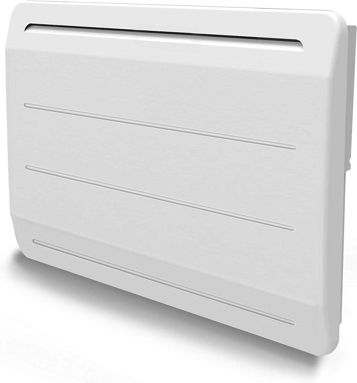 Radiador de hierro fundido, 1000 W, detector de ventana abierta, LCD programable, color blanco