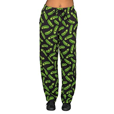 fa021739d6e5f Underboss Rick and Morty Pickle Rick Black and Green Lounge Pants (Adult  XX-Large): Amazon.co.uk: Clothing