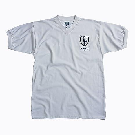 f92c7c692e51f8 Score Draw Official Retro Tottenham Hotspur 1961 FA Cup Final shirt -  Small