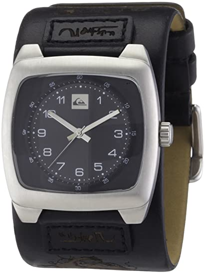 Quiksilver M076BL/2/ABLK - Reloj analógico de caballero de cuarzo con correa de