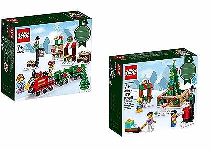 Lego Christmas Train.2 Christmas Sets Lego 40262 Christmas Train Ride 40263 Christmas Town Square