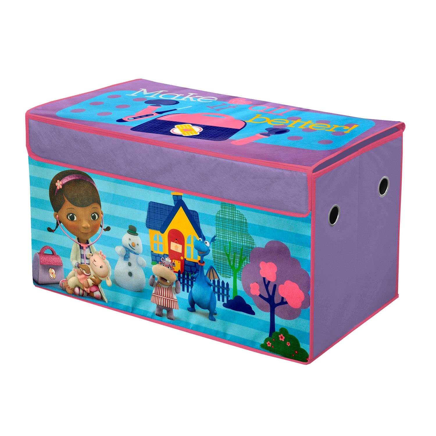Dreamworks Trolls Collapsible Storage Trunk Idea Nuova - LA NK550548