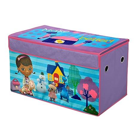 Amazon Com Disney Doc Mcstuffins Collapsible Storage Trunk Toys