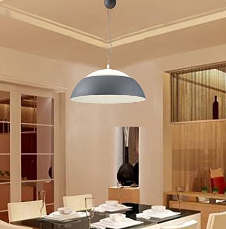 TENSENG Chandelier Ceiling Light 60W LED Pendant Up And Down Lighting Height Adjustable Grey Aluminium