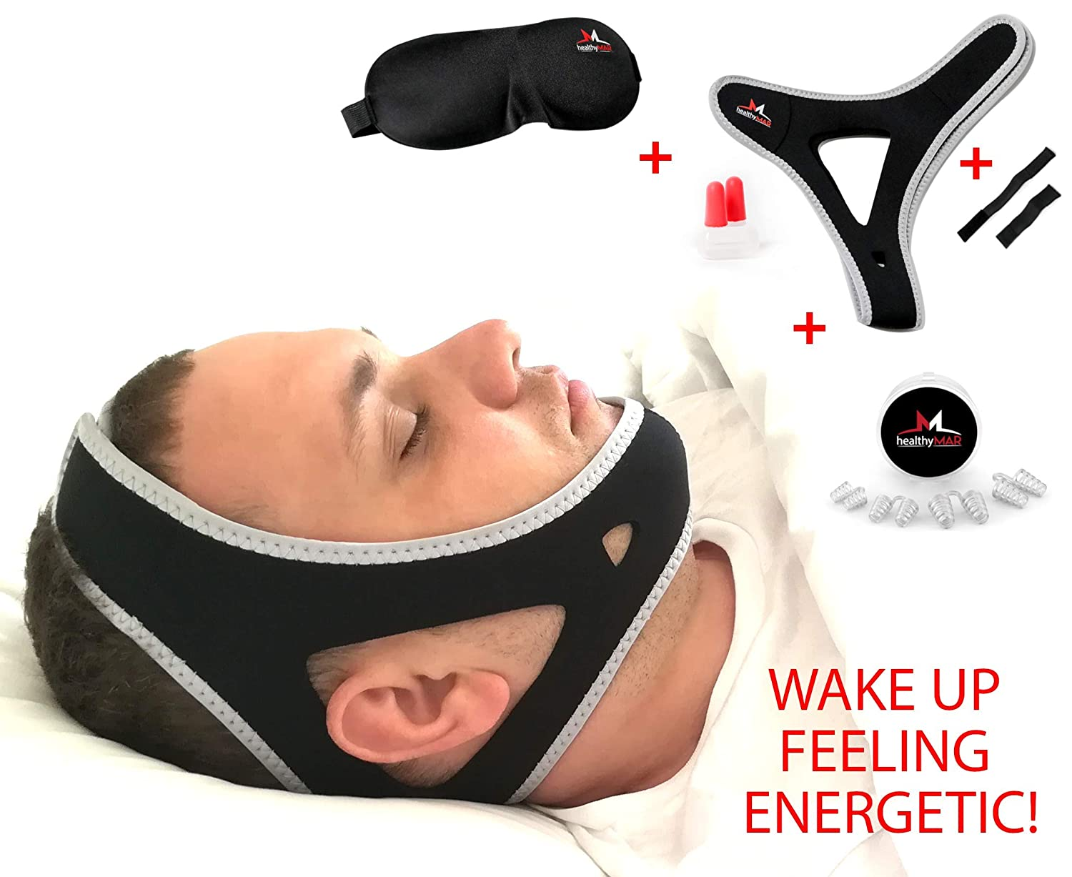 Anti Snoring Chin Strap - 4 in 1 - Snoring Solution with eBook Included