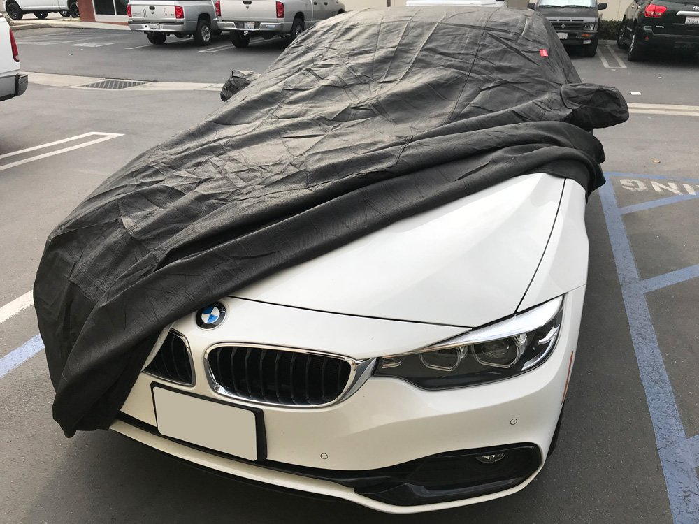 CarsCover Custom Fit 2007-2019 BMW M3 320i 328i 328d 330i 330e 335i 340i Car Cover Heavy Duty All Weatherproof Ultrashield Black 320 328 330 335 340