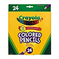 Crayola Colored Pencils, Assorted Colors, School Supplies, 24 Count