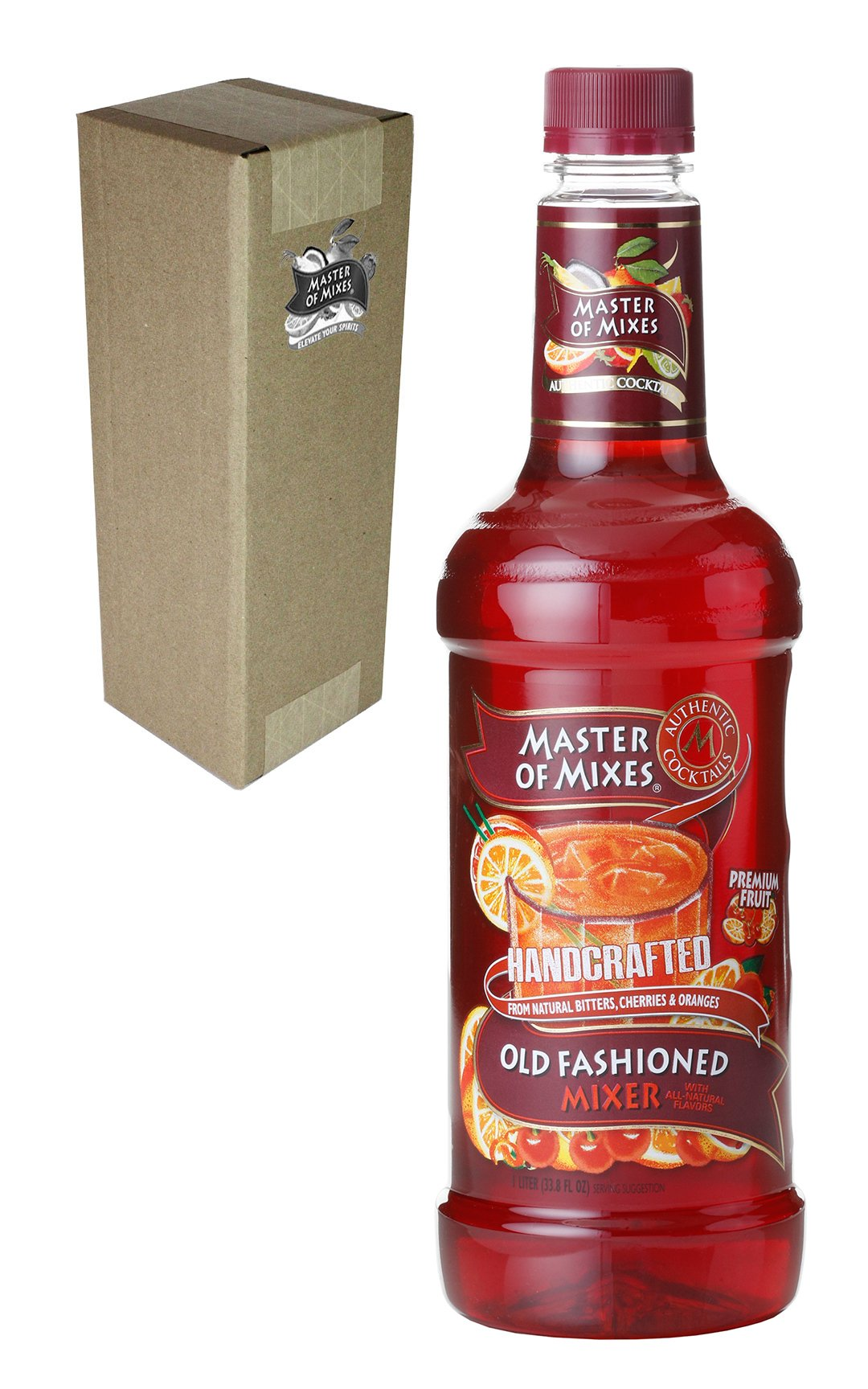 Master of Mixes Old Fashioned Drink Mix, Ready To Use, 1 Liter Bottle (33.8 Fl Oz), Individually Boxed