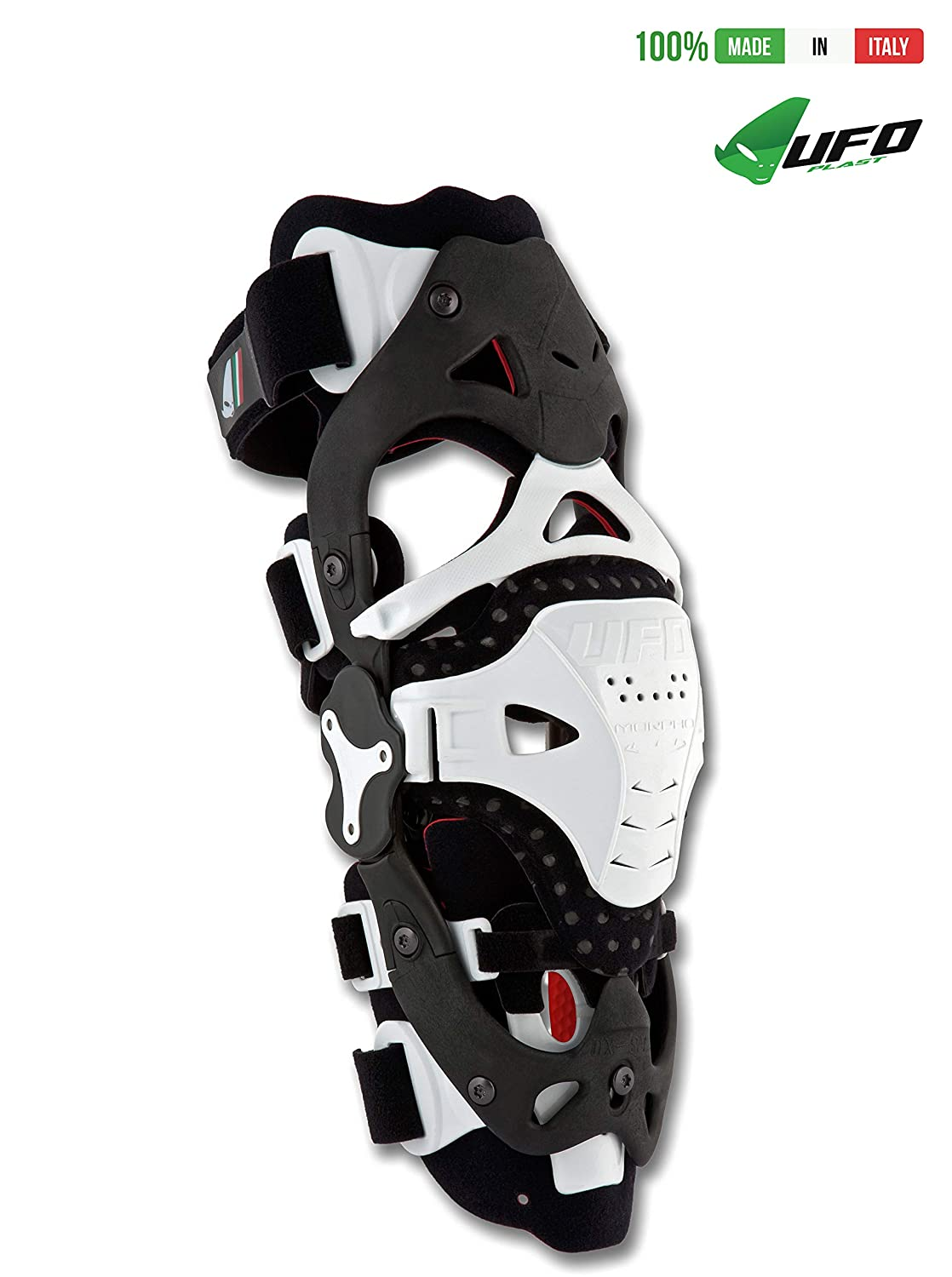 L//XL//Color White UFO PLAST Made in Italy KB001 MORPHO FIT LEFT SIDE Jointed Brace for Knee Protection