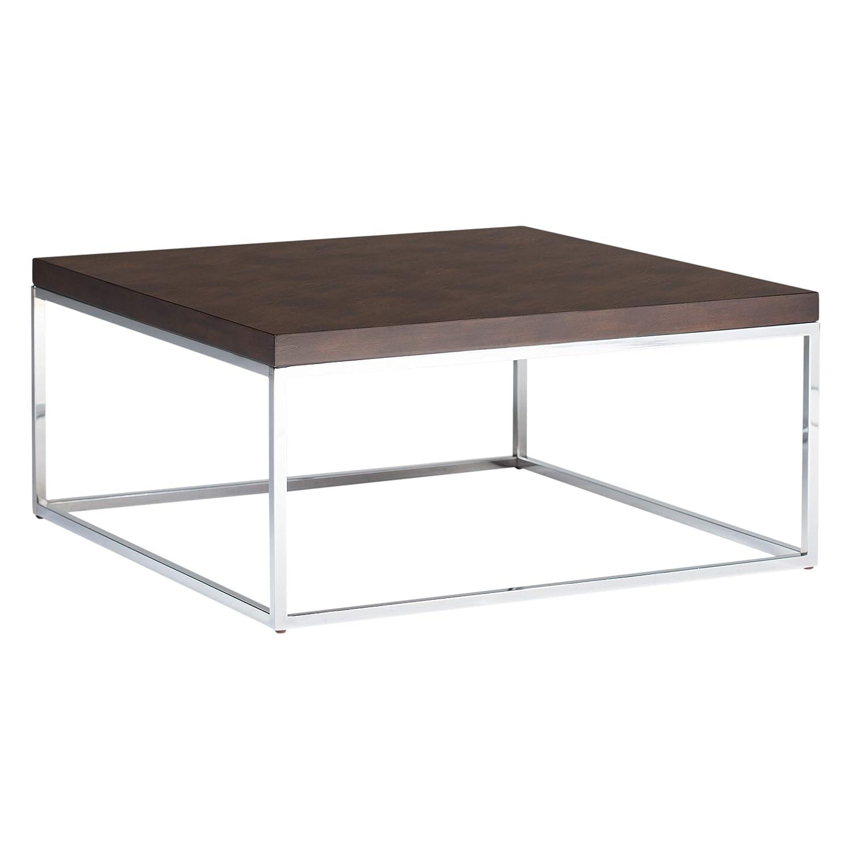 Studio Designs Home Square Coffee Table Metal Chrome Java 36