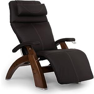 Human Touch Perfect Chair PC-420 Classic Plus Top Grain Leather Zero Gravity Recliner, Espresso