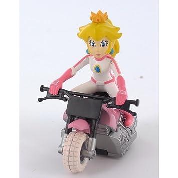 Super Mario Kart Princess Peach Bike Figure Pull Back