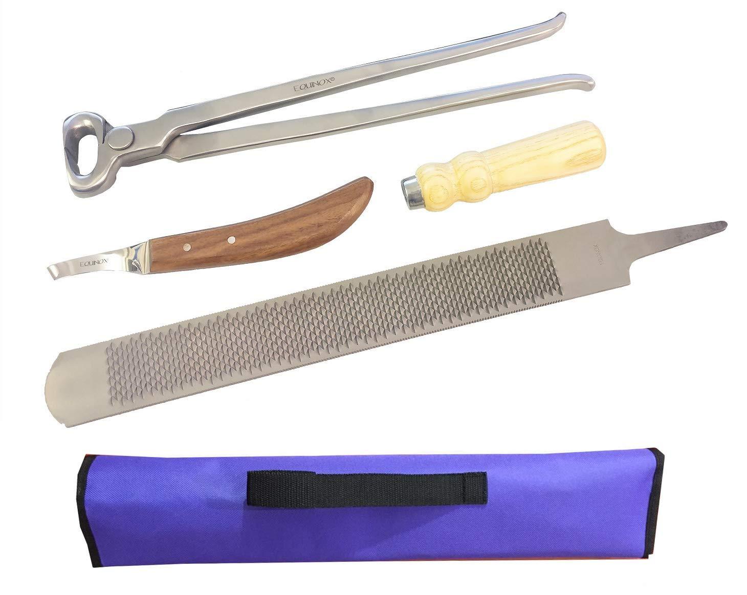 SiS EQUINOX Farrier Tool Kit Hoof Rasp, Hoof Nipper & Knife in a Storage Wallet by SiS EQUINOX