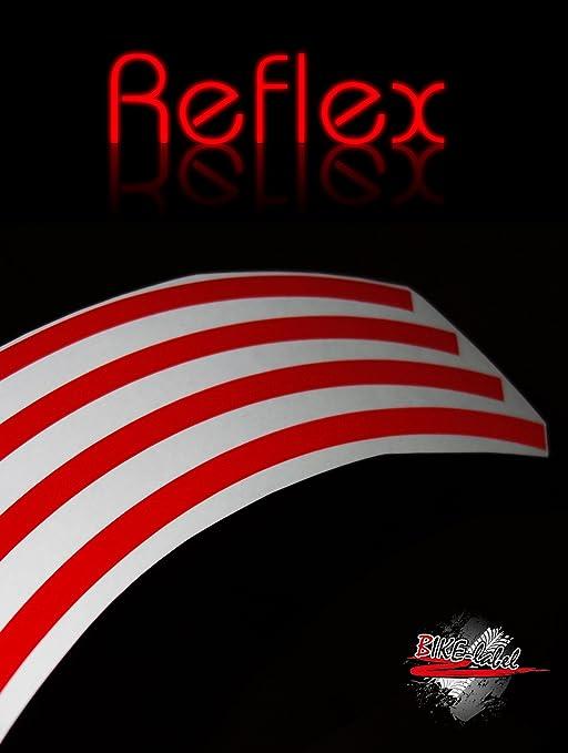 Bike Label Felgenrandaufkleber Set 700603 Classic-Style Reflex Rot
