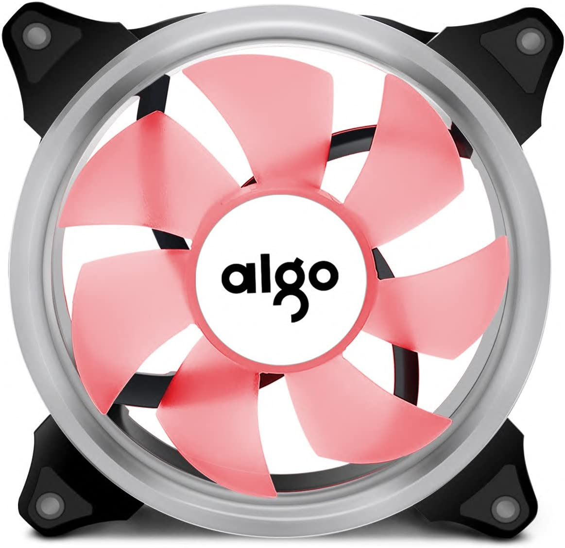5-Pack Blue Aigo Ring LED Case Fan 140mm 14cm Quiet Edition Sleeve Bearing High Airflow Silent Cooling Fan for PC Computer Cases CPU Coolers and Radiators