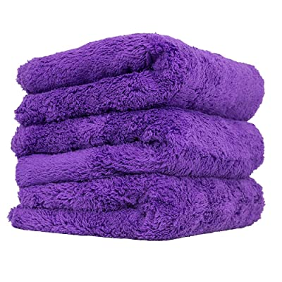 "Chemical Guys MIC35803 Edgeless Microfiber Towel (Purple, 16"" x 16"" Happy Ending): Automotive"