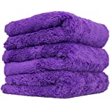 "Chemical Guys MIC35803 Edgeless Microfiber Towel (Purple, 16"" x 16"" Happy Ending)"