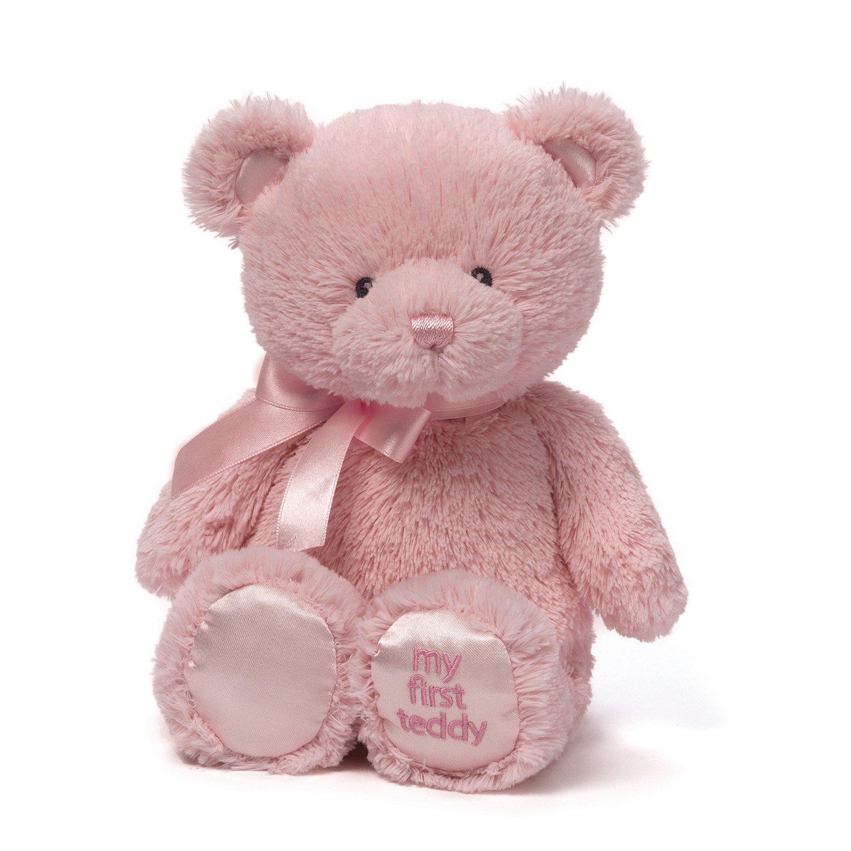 "Baby GUND My First Teddy Bear Stuffed Animal Plush, Pink, 15"""