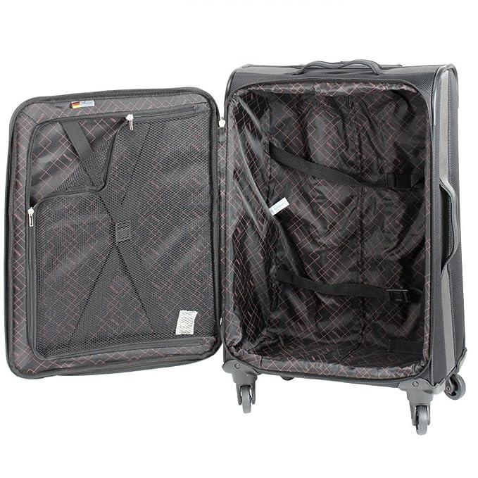 Wagner Luggage - Juego de maletas de poliéster Mujer, azul marino (Azul) - 85033400-05: Amazon.es: Equipaje