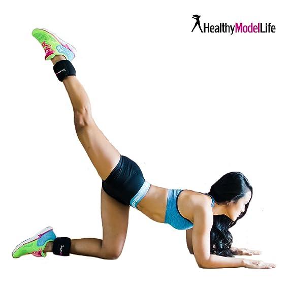 Pesas De Tobillos Stronger - Equipo De Fitness Profesional Para Mujeres Ideal Para Fortalecer Pantorillas Y Glúteos - Juego De 2 Tobilleras Lastradas 1Kg ...