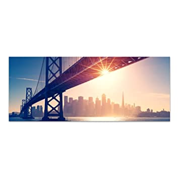 Dekoglas Glasbild San Francisco Acrylglas Bild Kuche Wandbild