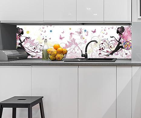 Retrocucina muro farfalla fata design m0438 210 x 60 l x a