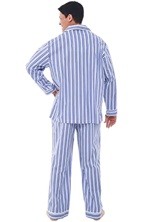 Alexander Del Rossa Mens Cotton Pajamas, Long Woven Pj Set at Amazon Mens Clothing store: