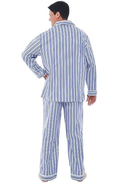 Alexander Del Rossa Mens Cotton Pajamas, Long Woven Pj Set at Amazon Mens Clothing store: