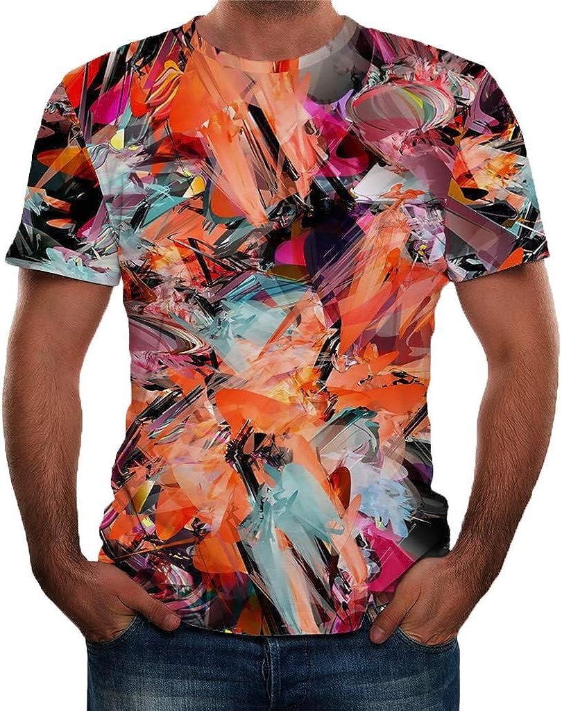 KaloryWee Mode T Shirt Tops Herren Damen Liebhaber Tank Top T-Shirts Polo Shirts Hemd Rundhals Kurzarm Regular Slim Fit Sport Langarm Bedruckt Gr/ö/ße Fr/ühling Sommer