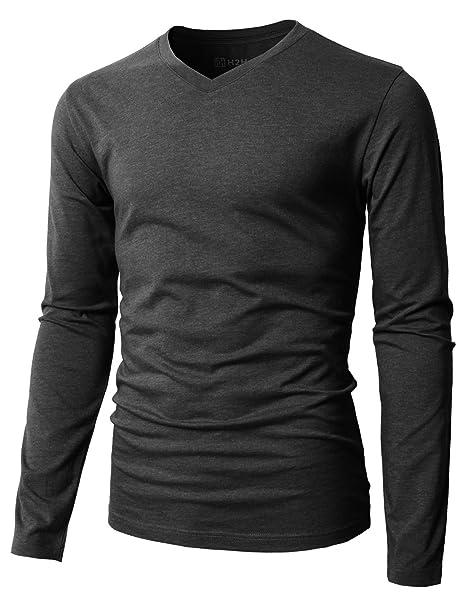 cd8f4db3bc440 Amazon.com: H2H Mens Casual Premium Slim Fit T-Shirts Long Sleeve ...
