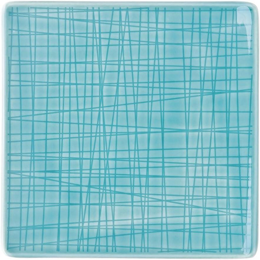 9 FL. Rosenthal Mesh Colours Walnut Teller quadr