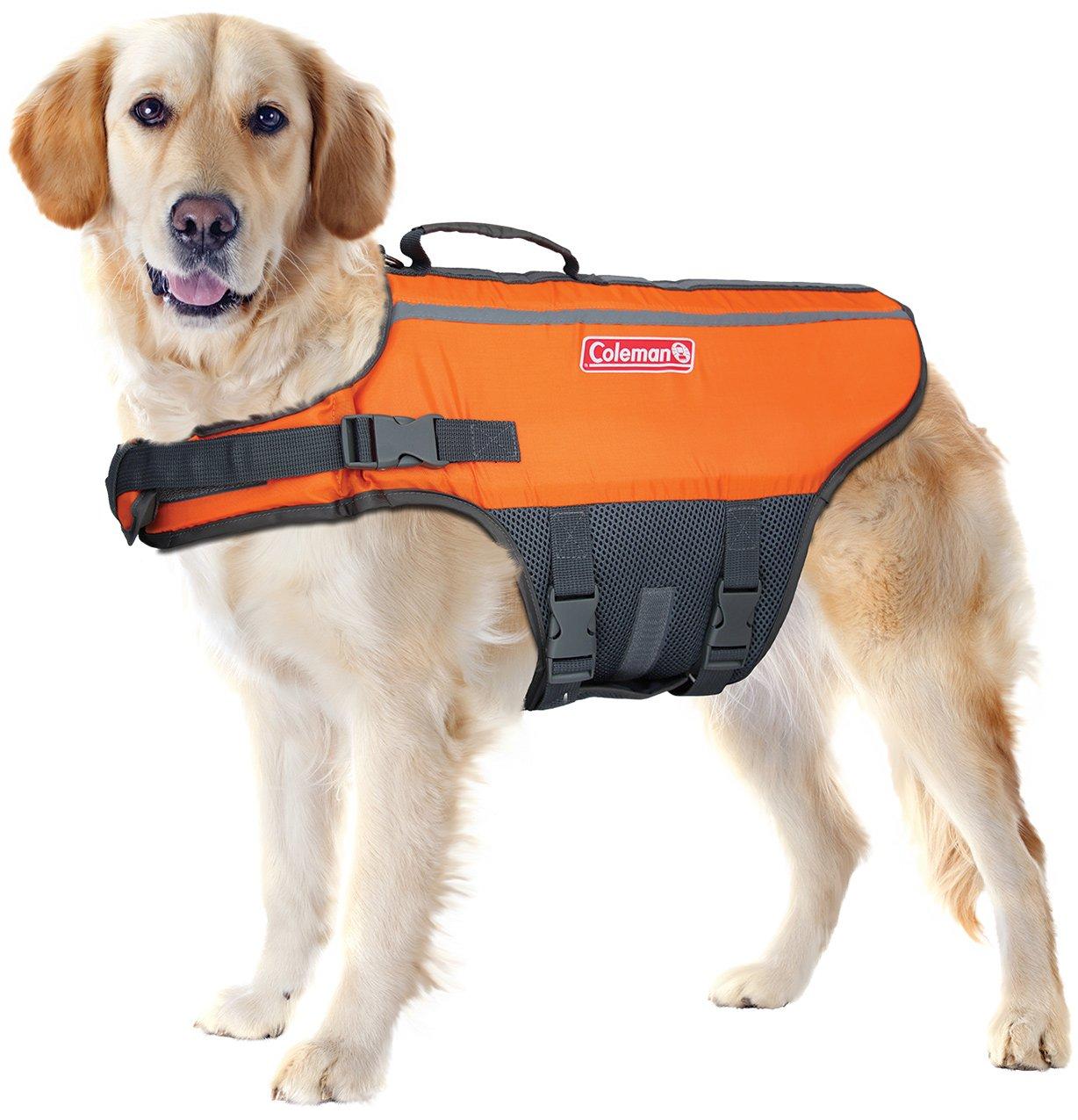 Coleman Dog Life Jacket Vest for Flotation in Pool Boat Beach Lake