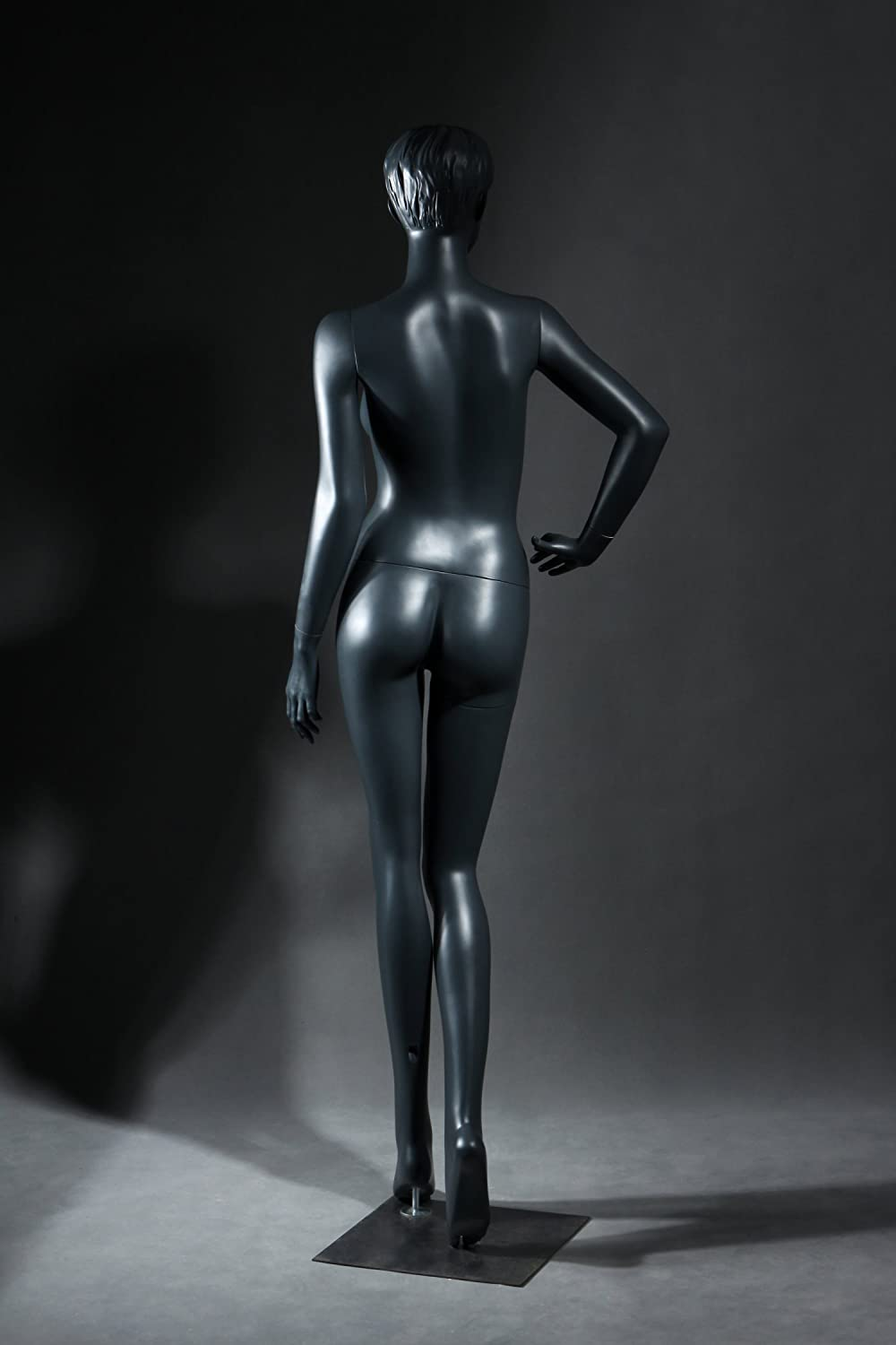 Female Full Body Fiberglass Mannequin Abstract Style Grey Color ads3