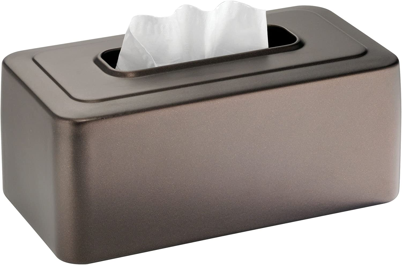 Caja de pa/ñuelos de cuero retro rectangular para caja de pa/ñuelos faciales oficina organizador de almacenamiento de servilletas coche ba/ño estuche dispensador de papel de bombeo para casa